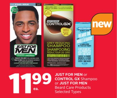 Just For Men or Control Gx Shampoo or Just For Men Beard Care Products