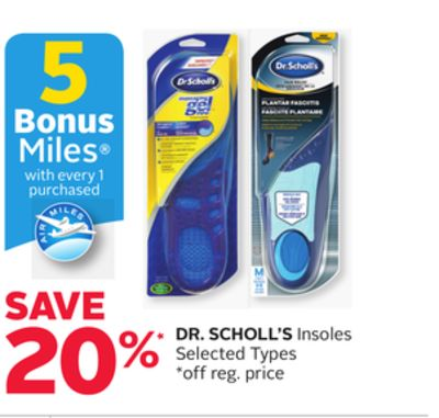 Dr. Scholl's Insoles - 5 Bonus Air Miles Reward Miles