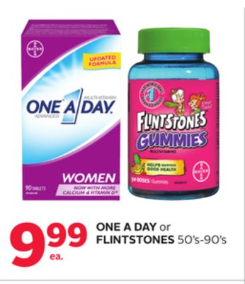 One A Day or Flintstones 50's-90's