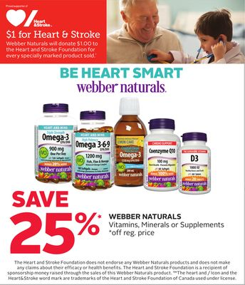 Webber Naturals Vitamins - Minerals or Supplements