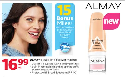 Almay Best Blend Forever Makeup - 15 Bonus Air Miles Reward Miles