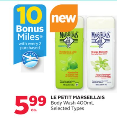 Le Petit Marseillais Body Wash - 10 Bonus Air Miles Reward Miles