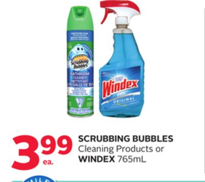 Scrubbing Bubbles Cleaning Products or Windex