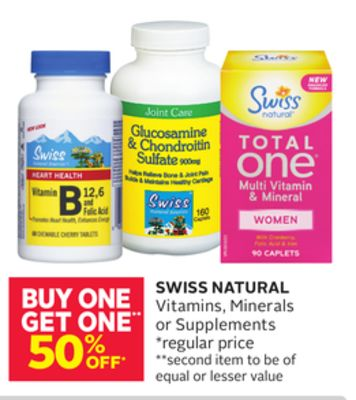 Swiss Natural Vitamins - Minerals or Supplements