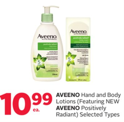 Aveeno Hand and Body Lotions (Featuring New Aveeno Positively Radiant)