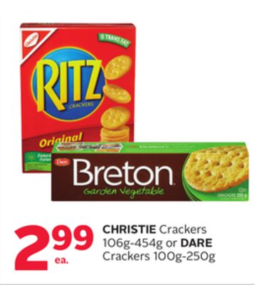 Christie Crackers 106g-454g or Dare Crackers 100g-250g