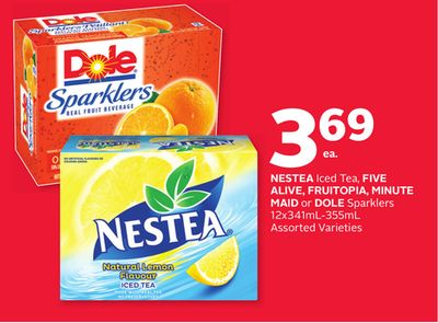 Nestea Iced Tea - Five Alive - Fruitopia - Minute Maid or Dole Sparklers