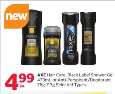 Axe Hair Care - Black Label Shower Gel 473ml or Anti-perspirant/deodorant 76g-113g