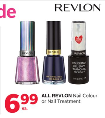 All Revlon Nail Colour or Nail Treatment