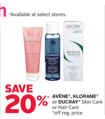 Avène - Klorane or Ducray Skin Care or Hair Care