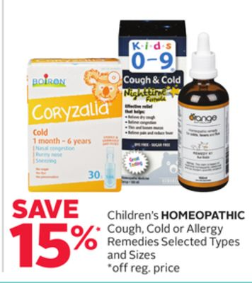 Children's Homeopathic Cough - Cold or Allergy Remedies