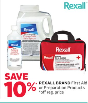 Rexall Brand First Aid or Preparation Products