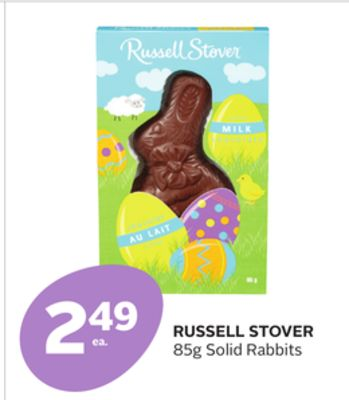 Russell Stover Solid Rabbits