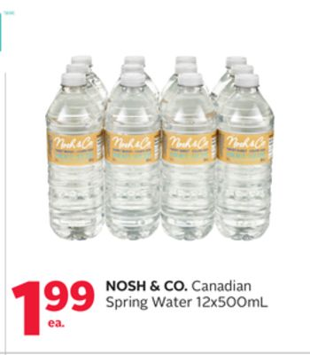 Nosh & Co. Canadian Spring Water