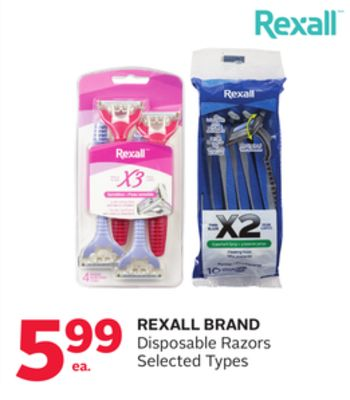 Rexall Brand Disposable Razors