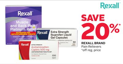 Rexall Brand Pain Relievers