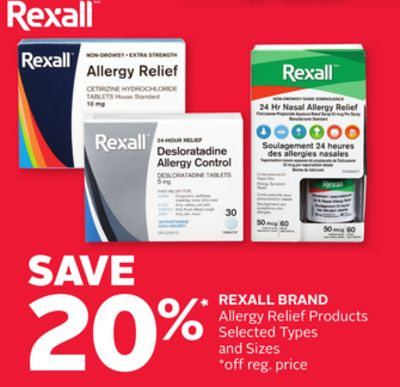 Rexall Brand Allergy Relief Products