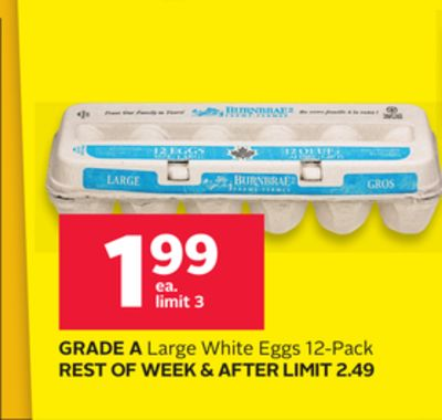 Grade A Large White Eggs 12-pack
