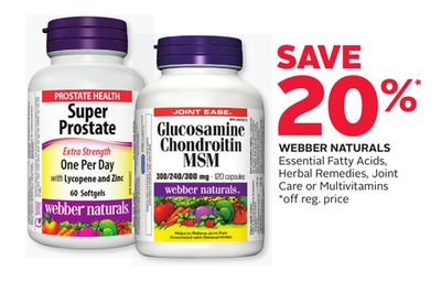 Webber Naturals Essential Fatty Acids - Herbal Remedies - Joint Care or Multivitamins