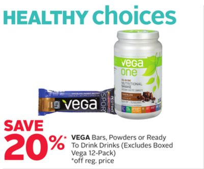 Vega Bars - Powders or Ready To Drink