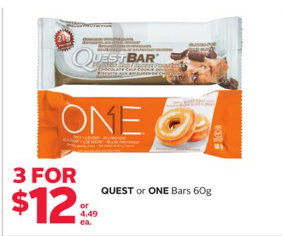 Quest or One Bars 60g