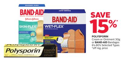 Polysporin Cream or Ointment 30g or Band-aid Bandages 6's-80's