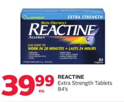 Reactine Extra Strength Tablets 84's