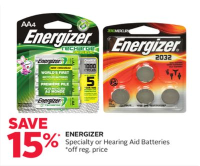 Energizer Specialty or Hearing Aid Batteries