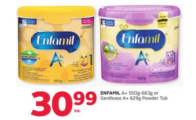 Enfamil A+ 550g-663g or Gentlease A+ 629g Powder Tub