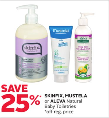 Skinfix - Mustela or Aleva Natural Baby Toiletries