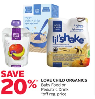 Love Child Organics Baby Food or Pediatric Drink