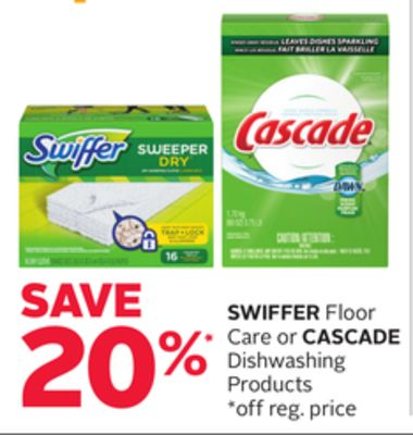Swiffer Floor Care or Cascade Dishwashing Products
