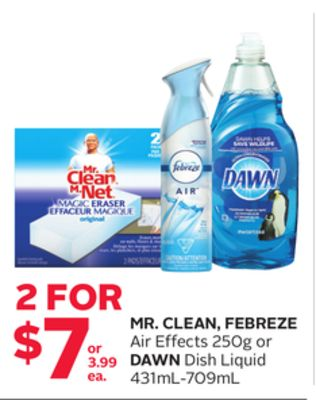 Mr. Clean - Febreze Air Effects 250g or Dawn Dish Liquid 431ml-709ml