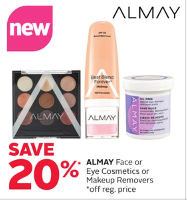 Almay Face or Eye Cosmetics or Makeup Removers