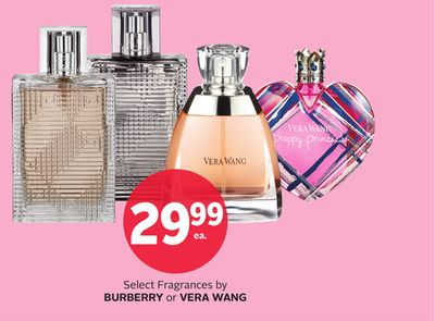 Select Fragrances By Burberry or Vera Wang