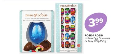 Rose & Robin Hollow Egg Gummies or Tray