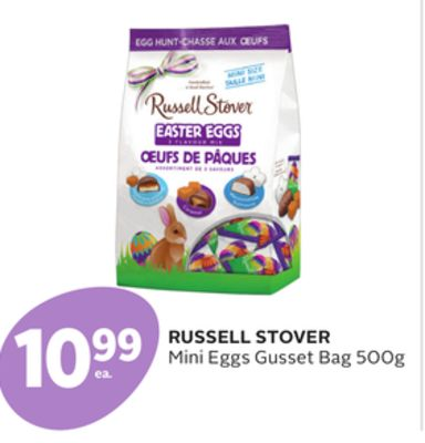 Russell Stover Mini Eggs Gusset Bag