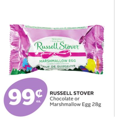 Russell Stover Chocolate or Marshmallow Egg