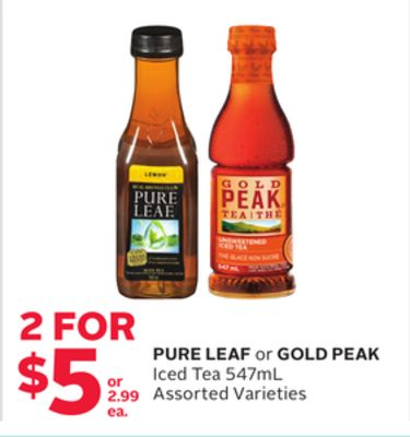 Pure Leaf or Gold Peak Iced Tea
