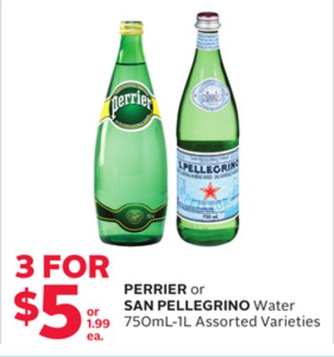 Perrier or San Pellegrino Water