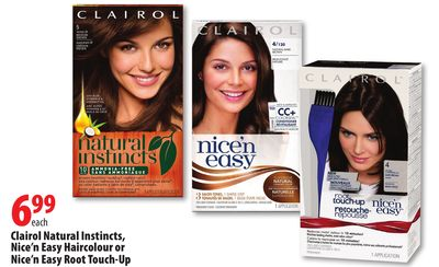 Clairol. Nice 'N Easy Root Touch-Up. Price $ \ Shop 18 Colors \ Quick Shop. out of 5 stars () Clairol. Shine Happy Clear Shine Treatment. Price $ Clairol. Natural Instincts Brass Free Brunettes. Price $ Quick Shop. out of 5 stars (6) Clairol. Color Crave Semi Permanent.