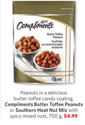 Compliments Butter Toffee Peanuts or on sale | Salewhale.ca