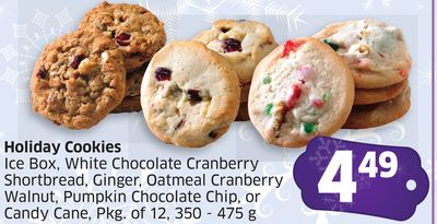 Holiday Cookies Ice Box - White Chocolate Cranberry Shortbread ...