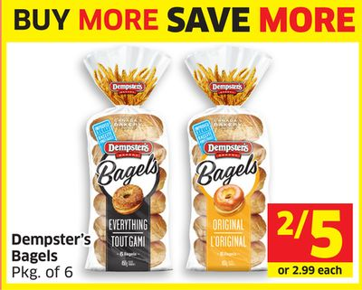 Dempster's Bagels Pkg of 6