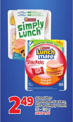 Schneiders Lunchmate Stackers - Kits or Simply Lunch 90 - 130 g
