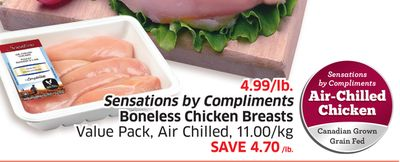 Sensations By Compliments Boneless Chicken Breasts Value Pack - Air Chilled - 11.00/kg