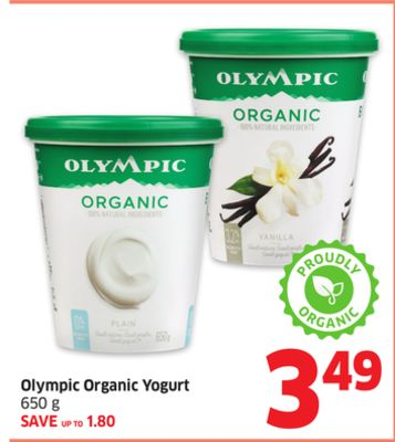 Olympic Organic Yogurt 650 g