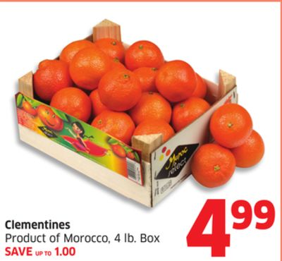 Clementines Product of Morocco - 4 Lb. Box