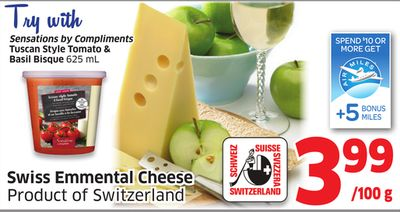 Swiss Emmental Cheese Product of Switzerland