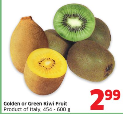 Golden or Green Kiwi Fruit Product of Italy - 454 - 600 g